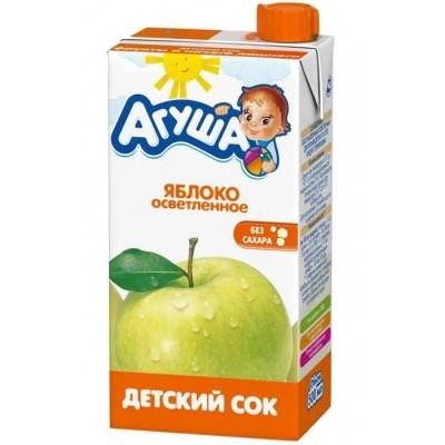 Сок Агуша яблоко осветленный, упак. 15х500 мл