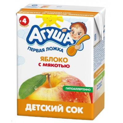 Сок Агуша Яблоко с мякотью, упак 18х200мл