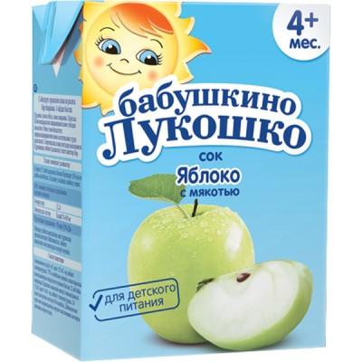 Сок Бабушкино Лукошко Яблоко с мякотью, упак 18х200 мл