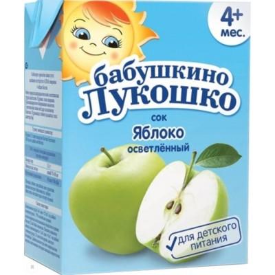 Сок Бабушкино Лукошко Яблочный осветл. упак 18х200 мл