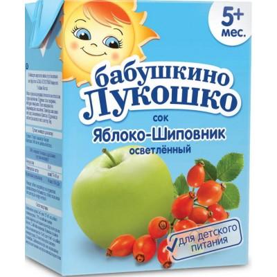 Сок Бабушкино лукошко яблоко-шиповник, упак. 18х200 мл