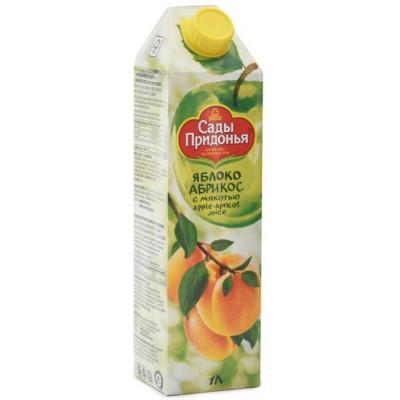 (Упак 12х1л) Сок Сады Придонья яблоко-абрикос с мякотью восстановленный 1л