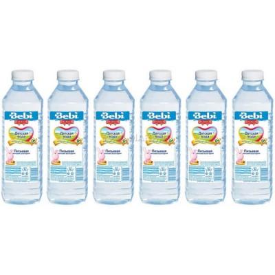 """Детская питьевая вода """"Bebi"""" с рожд. 1л (упак 6 шт)"""