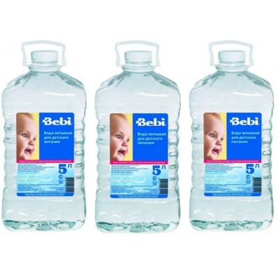 Детская питьевая вода Bebi с рождения, 5л.
