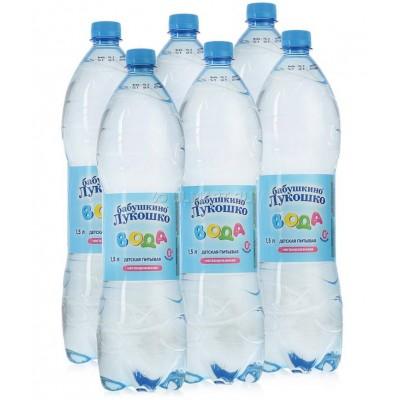 """Вода """"Бабушкино лукошко"""" 1,5 л (упак 6шт)"""