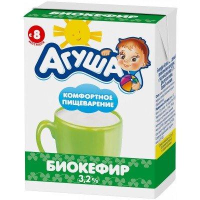 (Упак 12х200мл) Биокефир Агуша 3,2% с 8 месяцев