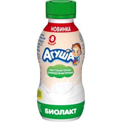 Биолакт Агуша с пробиотиком 3,2% с 8 мес. 200 гр