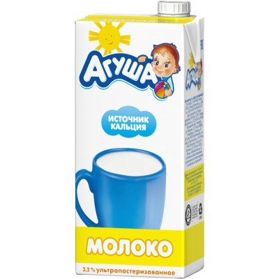 (Упак 12х925мл) Молоко Агуша 3,2% с 3 лет