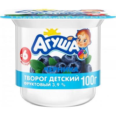 (Упак 6х100гр) Творог Агуша Черника 3,9% с 6 мес