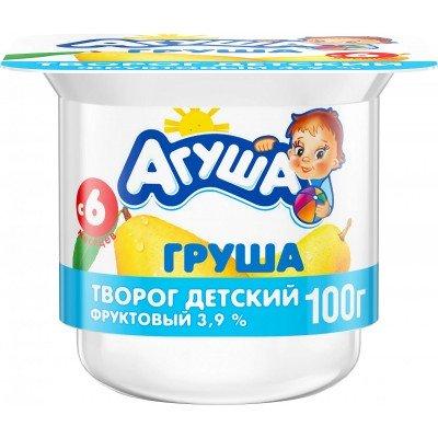 (Упак 6х100гр) Творог Агуша Груша 3,9% с 6 мес