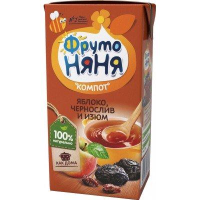 Компот ФрутоНяня Яблоко чернослив изюм, упак 27х0,2л