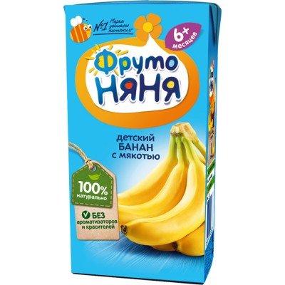 Нектар ФрутоНяня Банан с мякотью, упак 27х200 мл