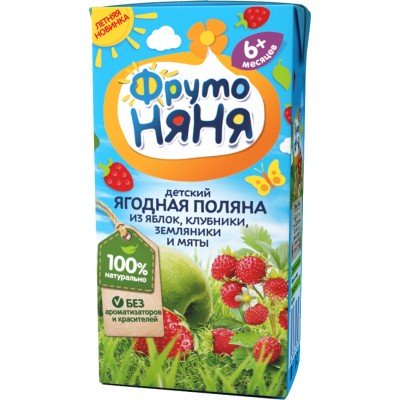 (Упак 27х0,2л) Напиток ФрутоНяня «Ягодная поляна»