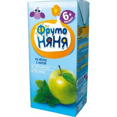 (Упак 27х0,2л) Напиток ФрутоНяня из яблок с экстрактом мяты с 6 мес