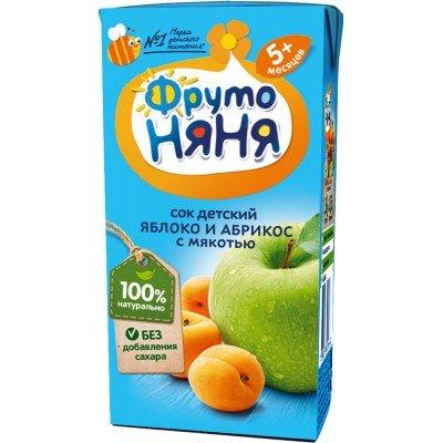 (Упак 27х0,2л) Сок ФрутоНяня Яблоко и абрикос с мякотью с 5 мес