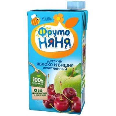 (Упак 25х0,5л) Нектар ФрутоНяня из яблок и вишни 0,5 л от 3 лет