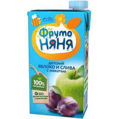 (Упак 25х0,5л) Нектар ФрутоНяня из яблок и слив с мякотью 0,5 л от 3 лет
