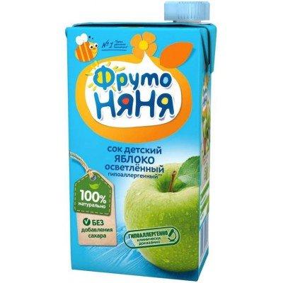 (Упак 25х0,5л) Сок ФрутоНяня из яблок 0,5 л от 3 лет