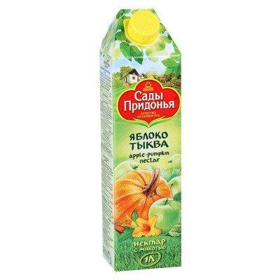 (Упак 12х1л) Нектар «Сады Придонья» яблочно-тыквенный с мякотью 1л