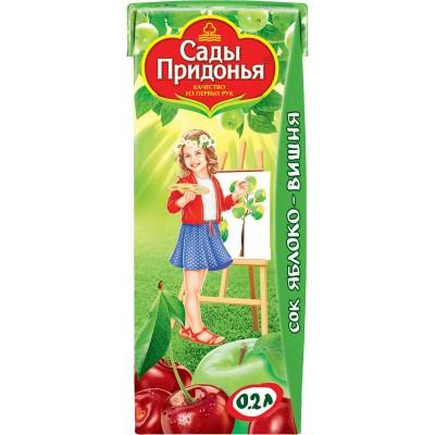 (Упак 27х0,2л) Сок Сады Придонья Яблоко и вишня с 5 мес