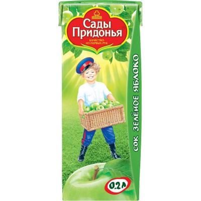 (Упак 27х0,2мл) Сок Сады Придонья Зеленое яблоко с 4 мес