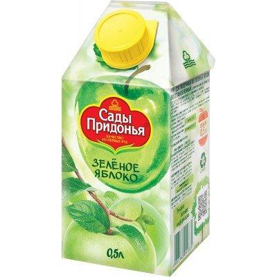(Упак 12х0,5л) Сок Сады Придонья Зелёное яблоко 0,5 л