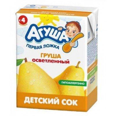 Сок Агуша груша без сахара, упак 18х200мл
