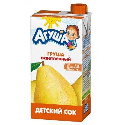 Сок Агуша груша осветленный, упак. 15х500 мл