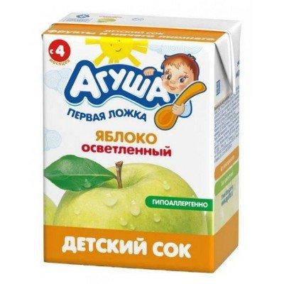 Сок Агуша яблоко осветленный, упак 18х200мл