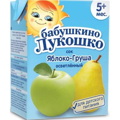 Сок Бабушкино лукошко яблоко-груша, упак. 18х200 мл