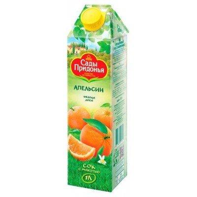 (Упак 12х1л) Сок «Сады Придонья», апельсиновый, 1л