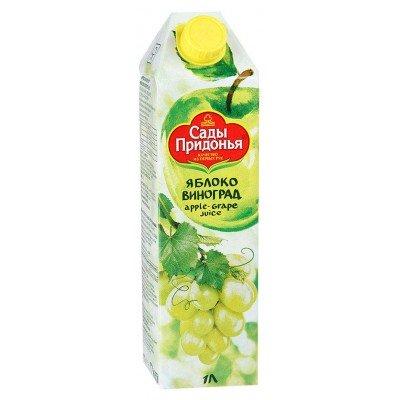 (Упак 12х1л) Сок Сады Придонья яблочно-виноградный восстановленный осветленный 1л