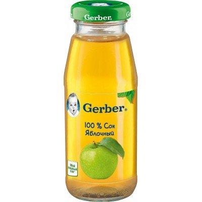 (Упак 12х175мл) Сок Gerber яблочный с 4 мес