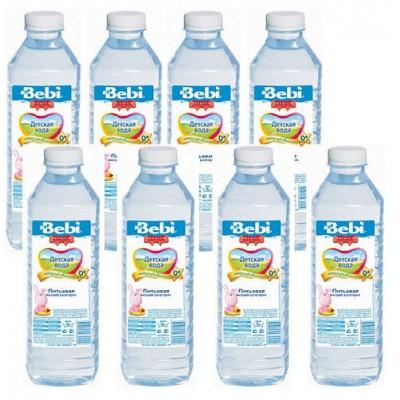 """Детская питьевая вода """"Bebi"""" с рожд. 0,5 л (упак 8шт)"""