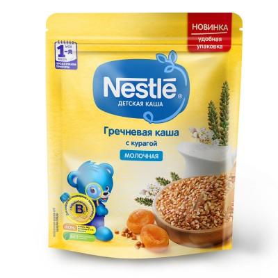 (Упак 9шт х 220г) Каша Nestle молочная гречневая с курагой