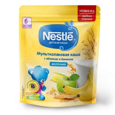 (Упак 9шт х 220гр) Каша Nestle молочная мультизлаковая с яблоком и бананом