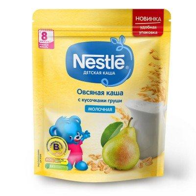 (Упак 9шт х 220гр) Каша Nestle молочная овсяная с кусочками груши