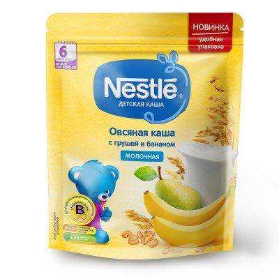 (Упак 9шт х 220гр) Каша молочная Nestle овсяная с грушей и бананом