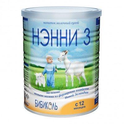 Нэнни 3 - молочный напиток на основе козьего молока, с 12 мес., 400гр
