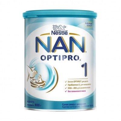 НАН 1 Опти Про - мол. смесь, 0-6 мес., 800гр, оптом