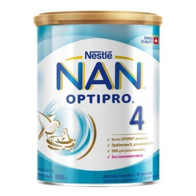 НАН 4 Оптипро - молочная смесь, 800гр (6шт/упак)
