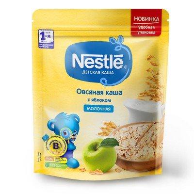 (Упак 9шт х 220гр) Каша Nestle молочная овсяная с яблоком