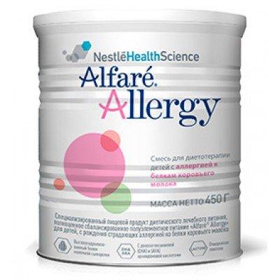 Специализированное питание Nestle Alfare Allergy с рождения 450 г