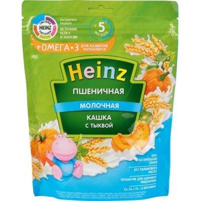 Пшеничная кашка Хайнц с молоком и тыквой, с 5 мес., 250 г Пакет купить оптом